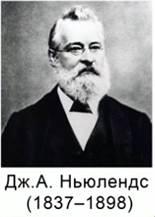 Дж.А.Ньюлендс (1837 - 1898)