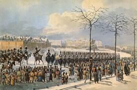 К.И. Кольман. «14 декабря 1825 года на Сенатской площади»
